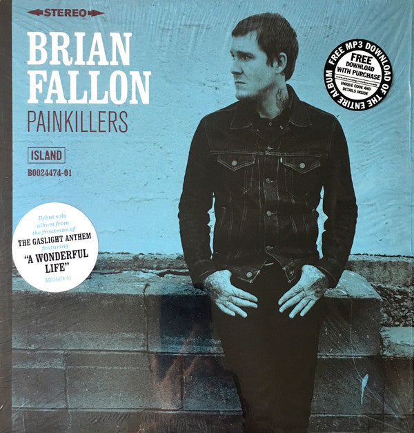 Brian Fallon (The Gaslight Anthem) - Painkillers - New Lp Record 2016 USA Vinyl with Download - Alt-Rock / Alt-Folk