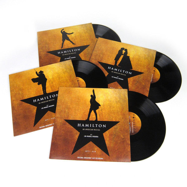 Lin-Manuel Miranda ‎– Hamilton (Original Broadway Cast Recording) - New 4 Lp Record 2016 Atlantic USA Vinyl, Book & Download - Musical / Soundtrack