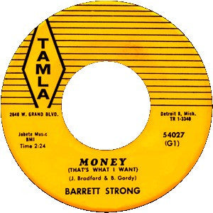 "Barrett Strong - Money (That's What I Want) / Oh I Apoligize - New Vinyl 2015 Third Man USA Tamla Reissue Series 7"" 45 RPM Single - Pop / R&B"