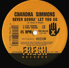 Chandra Simmons – Never Gonna' Let You Go - VG+ 1987 USA -  Electro/Funk