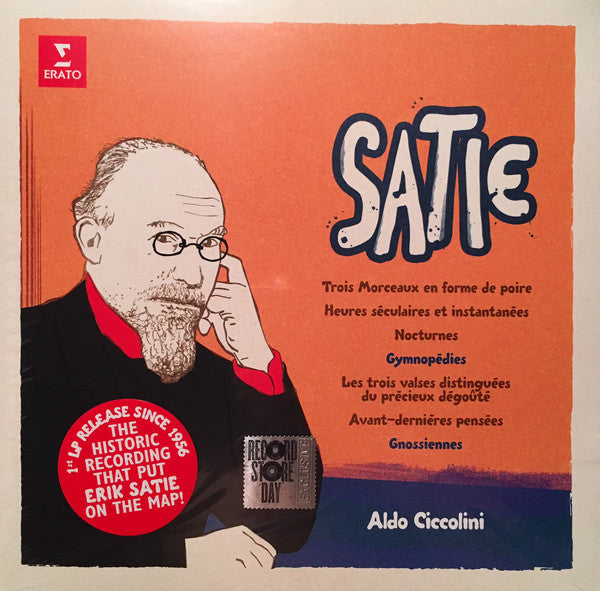 Aldo Ciccolini - Erik Satie Gymnopedies - New Vinyl Record 2016 Record Store Day LP, Limited to 1000 - Classical