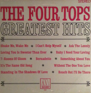 The Four Tops ‎– Greatest Hits - VG+ Lp Record 1967 Stereo USA Vinyl - Soul
