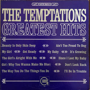 The Temptations ‎– Greatest Hits - VG Lp Record 1966 Stereo USA Vinyl - Soul / Rhythm & Blues