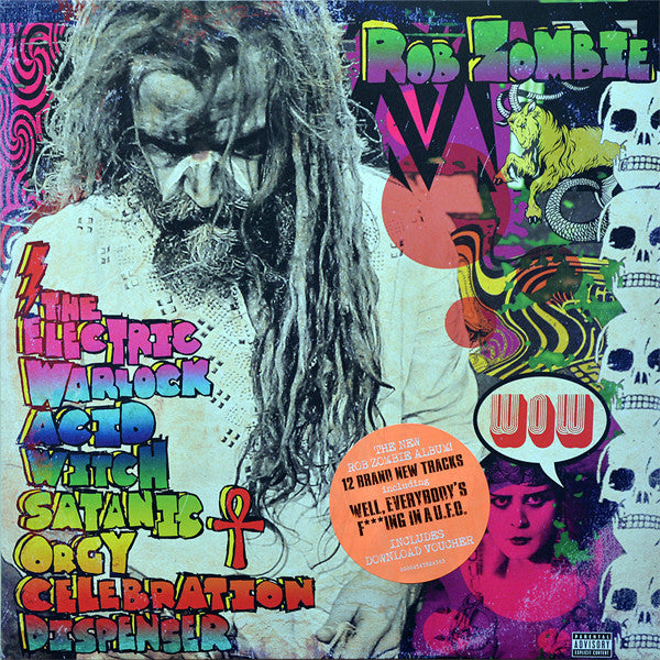 Rob Zombie - Electric Warlock Acid Witch Satanic Orgy Celebration Dispenser - New Vinyl Record 2016 Universal Records Gatefold Limited Edition Lenticular 3-D Cover - Metal / Hardrock