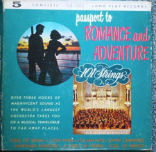 101 Strings - Passport to Romance and Adventure - VG+ USA 5 Record Box 1960 - Shuga Records Chicago