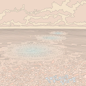 Mutual Benefit - Skip a Sinking Stone - New Vinyl Record 2016 Mom + Pop Limited Edition Translucent Splatter Grey Vinyl, Download + SLIPMAT! - Indie Folk / Experimental