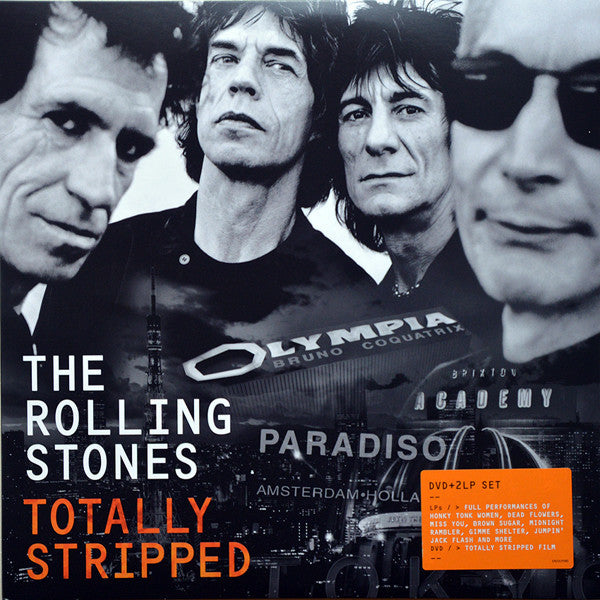 The Rolling Stones - Totally Stripped - New Vinyl 2016 Tri-Fold Cover w/ 2-LPs of songs from 3 different live performances, + a DVD / Documentary! - Rock