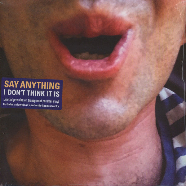 Say Anything - I Don't Think It Is - New Vinyl Record 2016 Equal Vision Limited Editon Editon Transparent Caramel Vinyl + Download, Bonus Tracks - Indie Pop / Rock