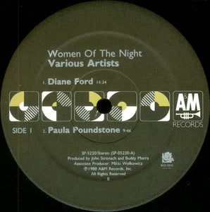Diane Ford & Paula Poundstone & Cathy Ladman Women Of The Night - A Comedy Album - New Vinyl Record 1988 (Original Press) USA - Comedy