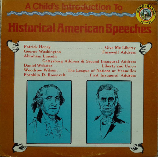 A Child's Introduction To Historical American Speeches - VG USA Childer/Spoken Word