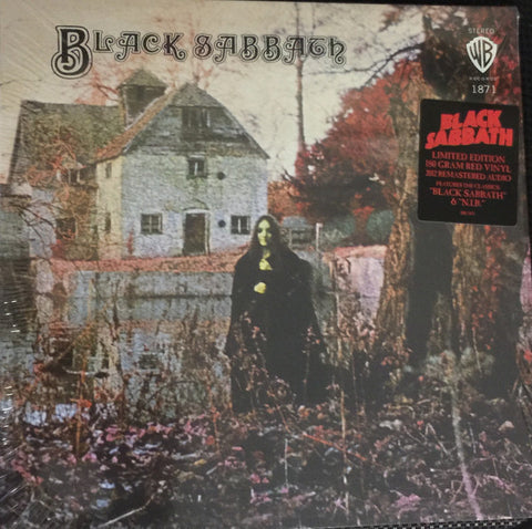 Black Sabbath - Black Sabbath - New Vinyl Record 2016 Warner Brothers Limited Edition 180gram Opaque-Red Gatefold Reissue (2012 Master) - Metal / Proto-Doom / Praise Iommi.