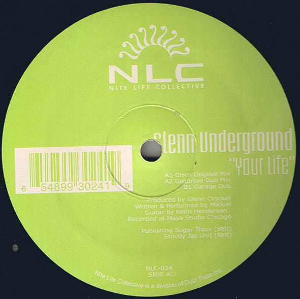 "Glenn Underground ‎– Your Life - Mint- 12"" Single 2001 USA - Chicago Deep House"