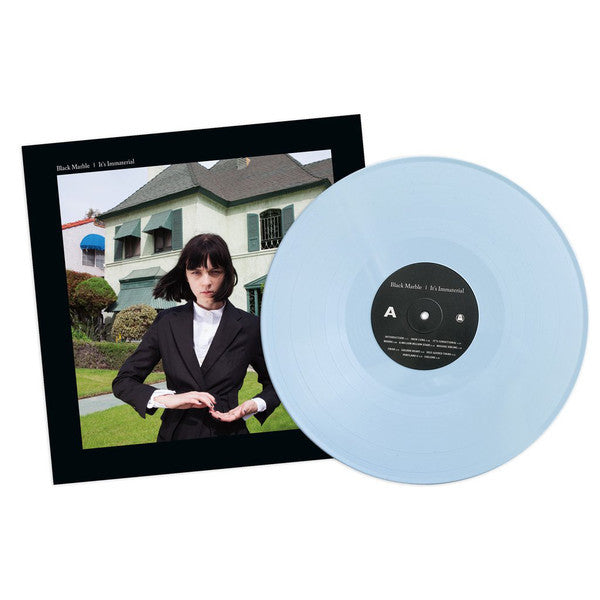 Black Marble - It's Immaterial - New Vinyl 2016 Ghostly International Limited Edition Blue Vinyl LP + Download - Post-Punk / Darkwave