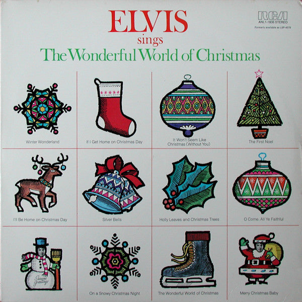 Elvis Presley - Elvis Sings the Wonderful World of Christmas - VG+ 1971 USA Stereo - Holiday