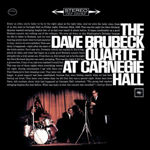 Dave Brubeck - At Carnegie Hall - VG+ Mono 2-LP 1963 CBS 2 Eye Lbl USA Jazz - B14-116