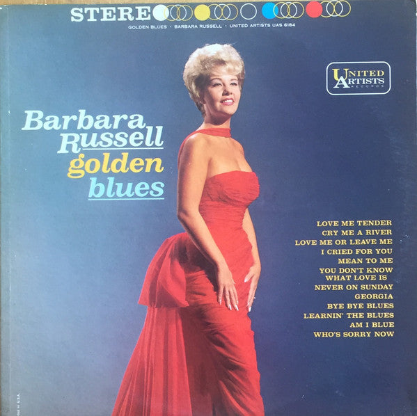 Barbara Russell - Golden Blues VG+ - 1961 United Artists Stereo USA - Jazz - B12-093