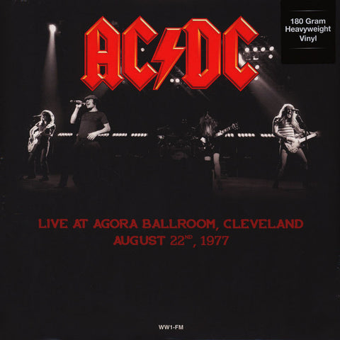 AC/DC ‎– Live At Agora Ballroom, Cleveland, August 22, 1977 - New Lp Record 2016 DOL Europe Import 180 gram Colored Vinyl - Hard Rock