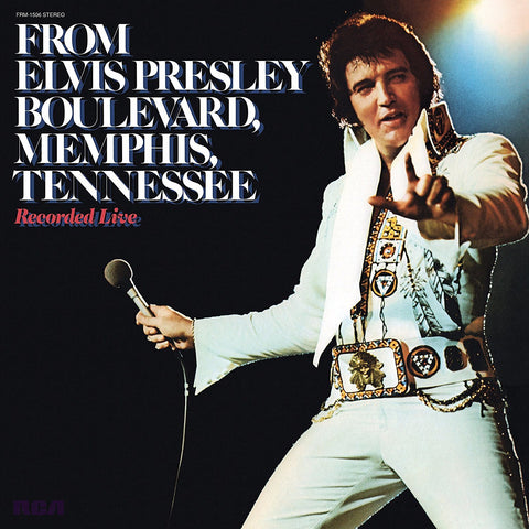Elvis Presley - From Elvis Presley Boulevard, Memphis, Tennessee (Recorded Live in 1976) - New Vinyl Record 2016 Friday Music Limited Edition 40th Anniversary Pressing on Translucent Gold 180gram Vinyl - Rock