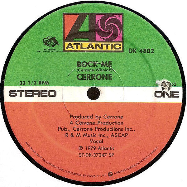 "Cerrone - Rock Me / Rocket In The Pocket - VG+ 12"" Single 1979 USA - Disco"