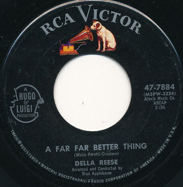 Della Reese ‎– A Far Far Better Thing / I Possess - VG+ 45rpm 1961 USA RCA Victor Records - Jazz / Pop / Vocal