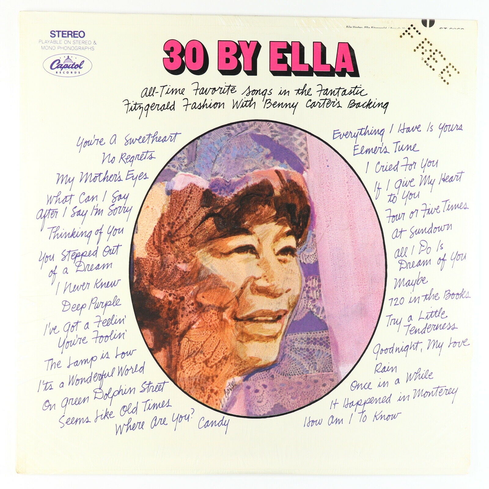 Ella Fitzgerald ‎– 30 By Ella - New Lp Record 1968 Capitol USA Stereo Original Vinyl - Jazz