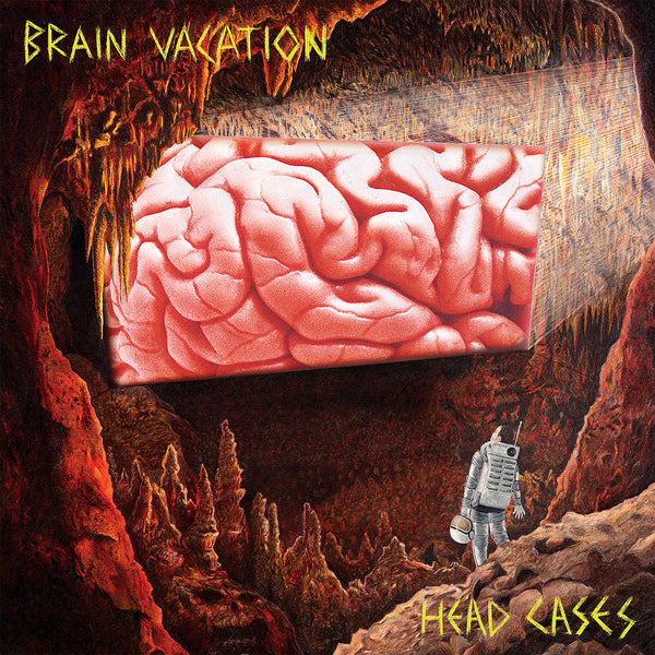 Brain Vacation - Head Cases - New Vinyl Record 2016 Wall of Youth Records Limited Edition of 250 Copies w/ 11x17 Poster/Insert and Hand-Stamped Innersleeve - Punk / Hardcore
