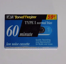New Sealed ToneMaster Type I Normal Bias 60 minute Low Noise Cassette Tape