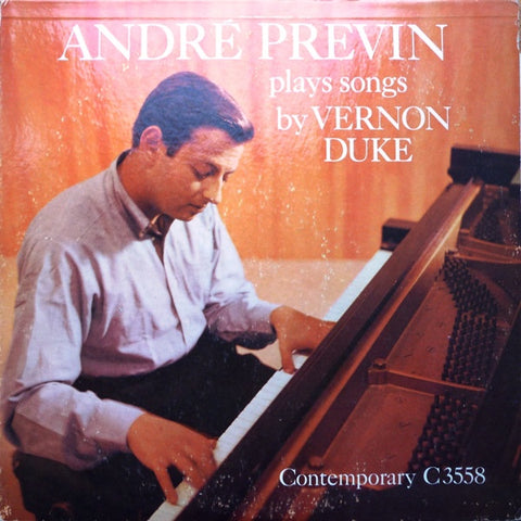 André Previn - Plays Songs By Vernon Duke ‎- VG+ 1958 Contemporary Mono USA Lp - Jazz