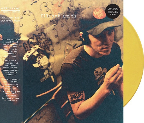 Elliott Smith - Either / Or (Expanded Edition) - New Vinyl 2017 Kill Rock Stars Limited Edition Gatefold Pressing on Yellow Vinyl! - Indie Rock / Indie Pop / SadGod