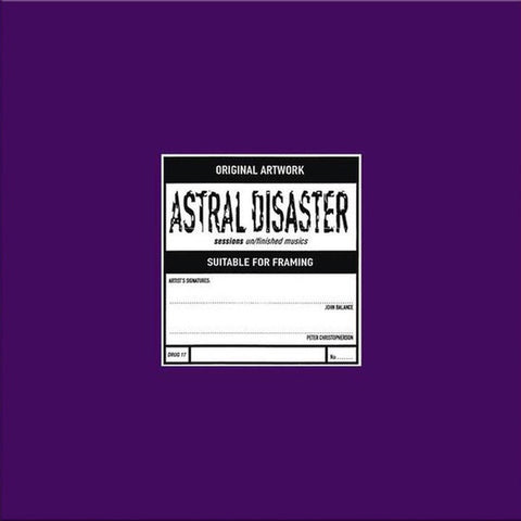 Coil ‎– Astral Disaster Sessions Un/Finished Musics - New Lp Record 2018 UK Import Vinyl - Electronic / Experimental / Ambient