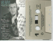 Philip Glass - Songs From Liquid Days - VG+ 1984 USA Cassette Tape - Experimental/Electronic