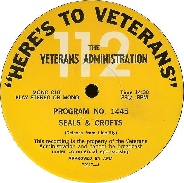 Al Martino / Vintage Radio - Here's To Veterans- Program No. 1424 / 1423 - Spoken Word / Jazz