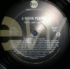 "A-Town Players / Mixzo Feat. Envyi - Player Can't You See / It's About Time Mint- - 12"" Single 1998 EastWest USA - Hip Hop"