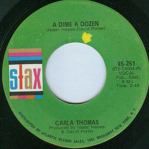 "Carla Thomas - A Dime A Dozen / I Want You Back - VG 7"" Single 45RPM 1968 Stax USA - Funk / Soul"