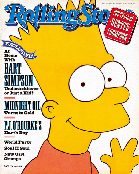 Rolling Stone Magazine - Issue No. 581 - Bart Simpson