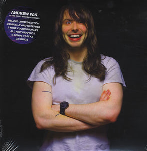 Andrew W.K. ‎– Close Calls With Brick Walls - New 2 Lp Record 2007 USA Limited Blue & Orange Vinyl & Book - Hard Rock / Experimental