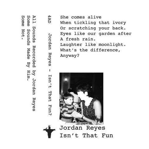 American Damage - Jordan Reyes: Isn't That Fun - New Cassette 2018 Limited Edition Tape (Hand Numbered to 100!) - Chicago, IL Experimental / Electronica