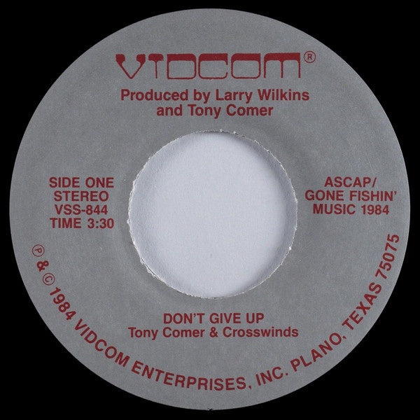Is It Time To Give Up On Single >> Tony Comer Crosswinds Don T Give Up Stay With Me Vg 7