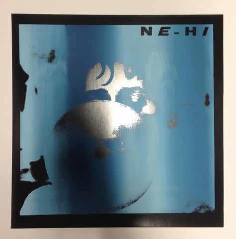 "NE-HI - S/T New Vinyl - 2016 Manic Static ""Shuga Records Exclusive"" on Translucent Blue Vinyl in Handnumbered Screen Printed Jacket (Ltd. to 100) + Download - Chicago Garage / Jangle Pop / Psych"