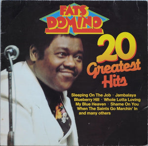 Fats Domino ‎– 20 Greatest Hits - New Lp Record 1983 Time Wind German Import Vinyl - Rock & Roll