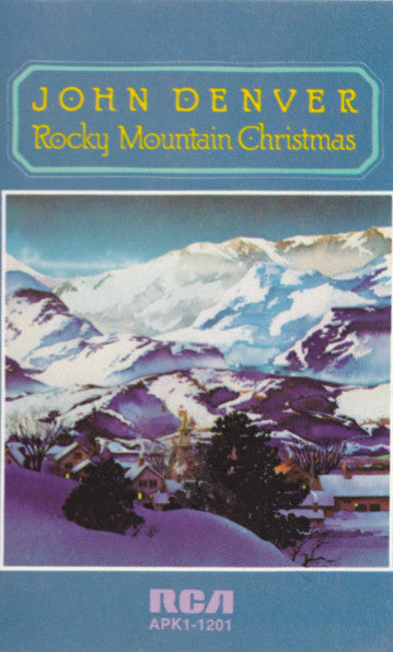 john denver rocky mountain christmas vg 1989 usa cassette tape countryfolk