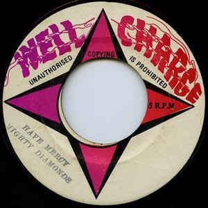 "Mighty Diamonds- Have Mercy- Vg- 7"" Single 45RPM- 1975 Well Charge Jamaica- Reggae"