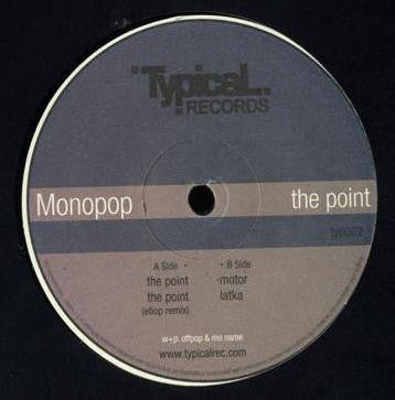 "Monopop - The Point - Mint- 12"" Single 2006 (Poland Import) - Techno/Minimal"