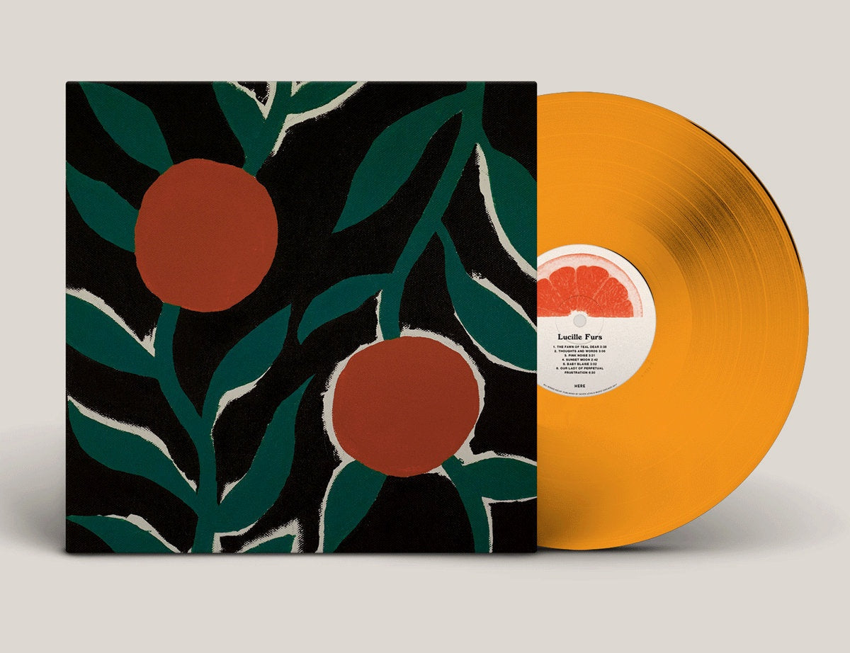 Lucille Furs ‎–  Lucille Furs - New Vinyl 2017 Limited Edition Pressing on 'Clear Orange' Vinyl 200 Made - Chicago, IL Psych Rock