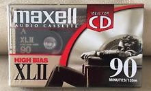 New Maxell XLII 90 Minutes Blank Audio Cassette Tape High Bias