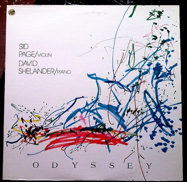 David Shelander (Piano) / Sid Page (Violin) ‎– Odyssey - VG+ Lp Record 1984 USA Original Vinyl - Modern Classical / Modern Composer