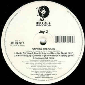 "Jay-Z - Change The Game / You, Me, Him And Her - VG 12"" Single USA 2000 - Hip Hop"