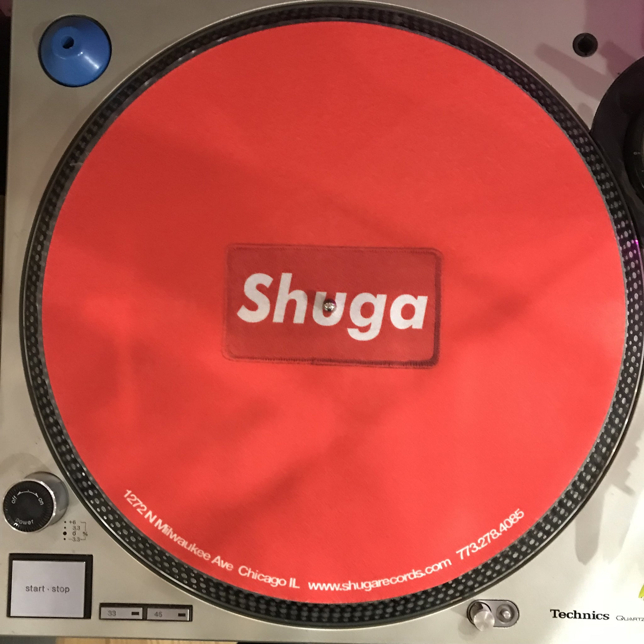 Shuga Records 2018 Limited Edition Vinyl Record Slipmat Supreme Red on Red Patch