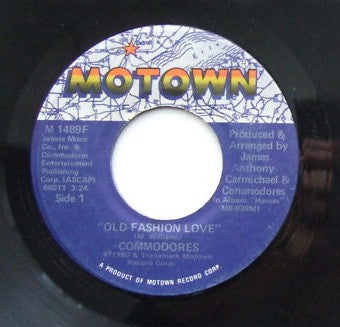 "Commodores - Old Fashion Love / Sexy Lady - VG+ 7"" Single 45RPM 1980 Motown USA - Soul / Disco"