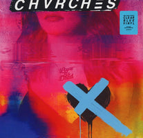 Chvrches - Love is Dead - New Vinyl Lp 2018 Glassnote Pressing on 180gram Clear Blue Vinyl with Gatefold Jacket and Download - Electronic / Synth Pop
